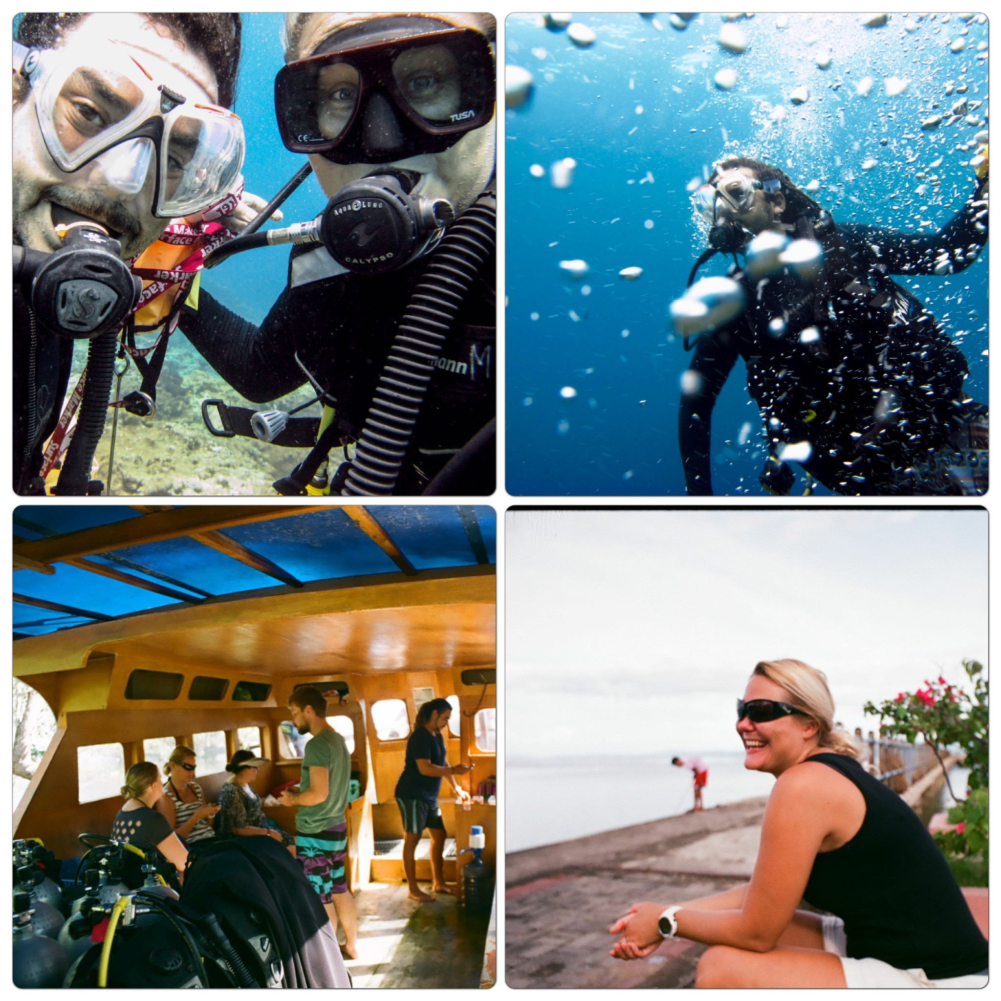 Diving instructors at Living Colours