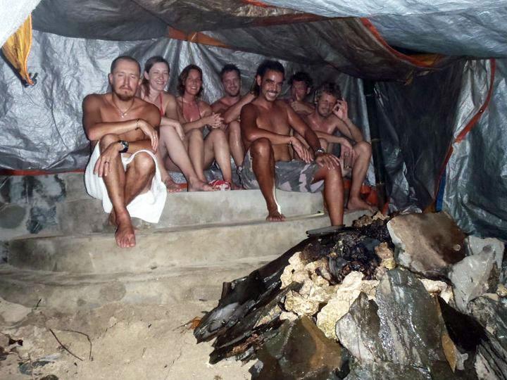 Sauna on the beach at Bunaken