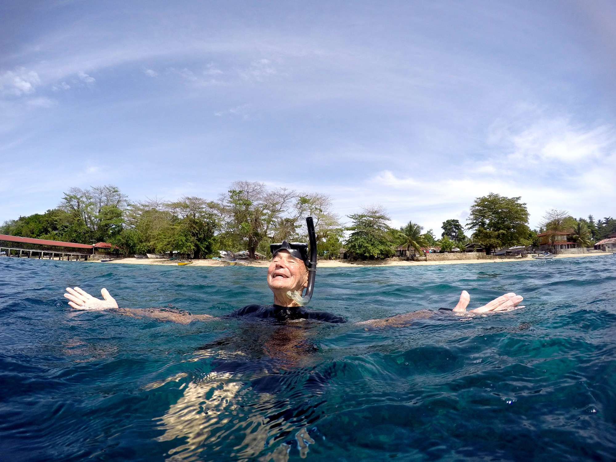 Ernest Brooks snorkeling in Bunaken